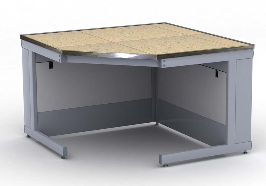 Изображение стола для лаборатории с поверхностью из керамических плит